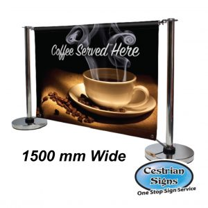Adfresco Cafe Barrier 1500mm Wide