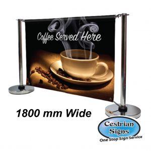 Adfresco Cafe Barrier 1800mm Wide