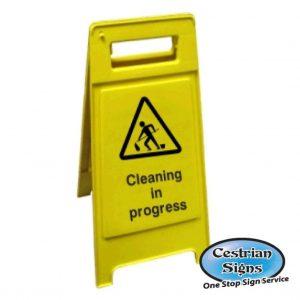Cleaning In progress floor sign