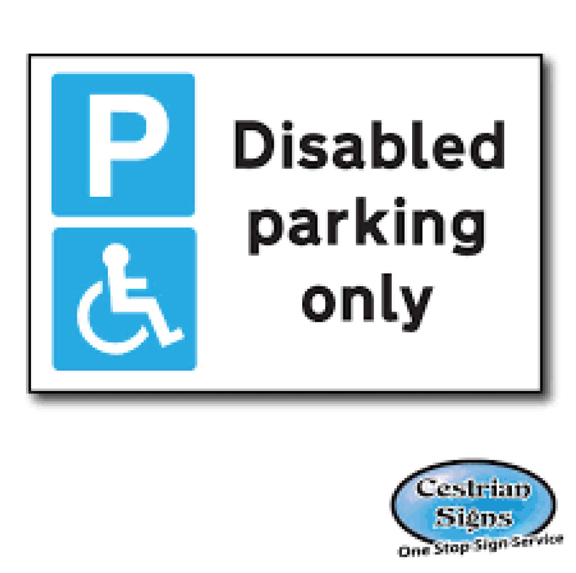 new products new product factory price Disabled parking only sign