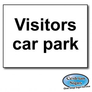 visitors-car-park-sign