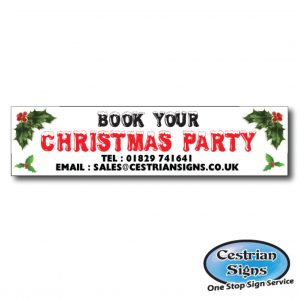 Christmas Meal and Party Banners and Signs