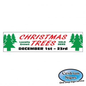 Christmas Trees Signs and Banners