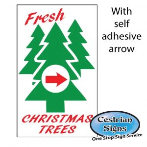 Christmas trees for sale signs