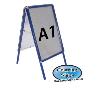 Blue A-Board Pavement Sign A1
