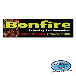 Bonfire night here banner