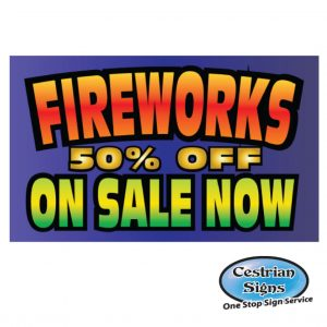 Fireworks on sale banner