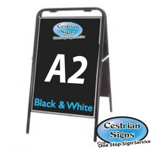 Metal A Board Pavement Sign BLACK A2