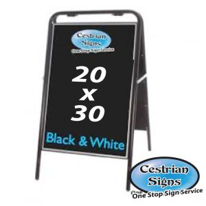 Metal A Board Pavement Sign Black 20 X 30