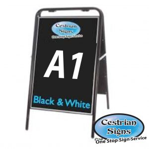 Metal A-Board Pavement Sign Black A1