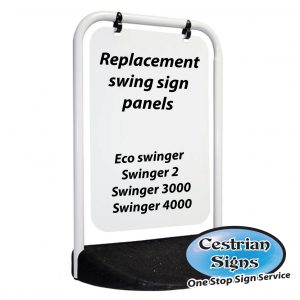 Replacement Aluminium Panels For Swinger Signs