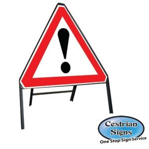 Caution Metal Stanchion Sign