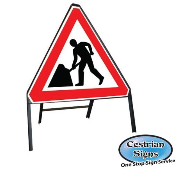 Caution Roadworks Stanchion Sign
