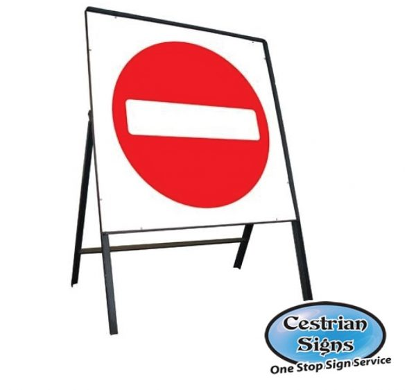 No Entry Stanchion Sign Complete
