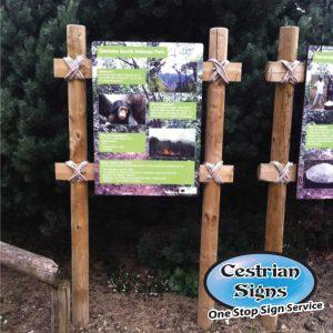 Outdoor Wooden Interpretation Sign Display