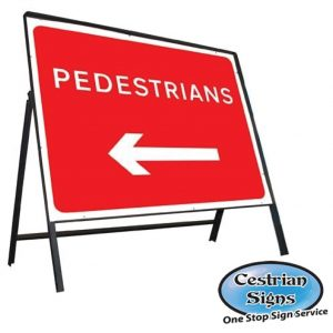 Pedestrians-left-stanchion-sign