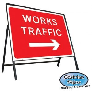 Works Traffic Right Arrow Sign Complete