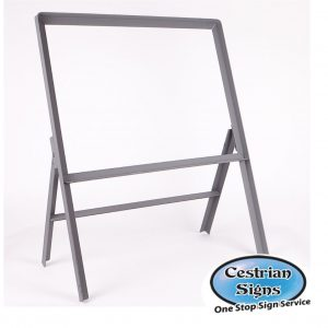 metal-stanchion-sign-frame