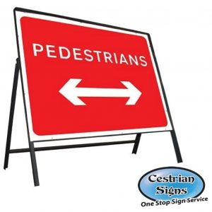 pedestrians-left-right-stanchion-sign