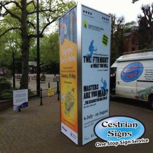 toblerone outdoor advertising display