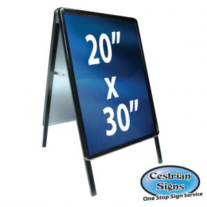 A-Master A-Board Sign Black 20 X 30 Inch