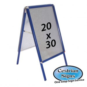 Blue A-Board Pavement Sign 20 X 30 Inch