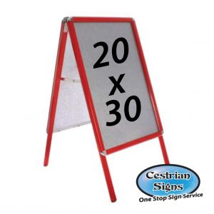 Red A-Board Pavement Sign 20 X 30