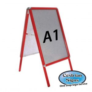 Red A-Board Pavement Sign A1