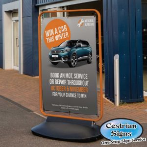 Sentinel forecourt banner sign large