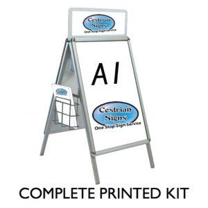 aluminium abord with header, aluminium Pavement sign with header,
