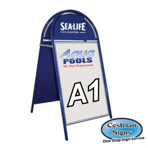 Booster A-Board Sign A1 Blue