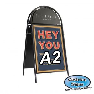 Booster A-Board Sign A2 Black