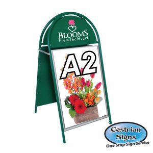 Booster A-Board Sign A2 Green
