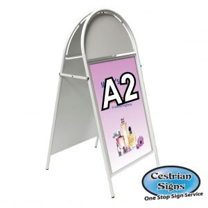 Booster A-Board Sign A2 White
