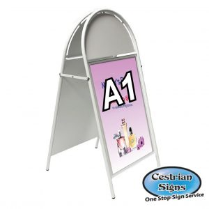 Booster A-Board Pavement Sign A1 White