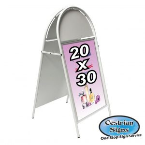 Booster A-Board Pavement Sign White 20 X 30 Inch