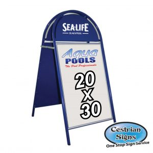 Booster A-Board Sign 20 X 30 Inch Blue