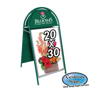 Booster-A-Board-Sign-20-X-30-Inch-Green