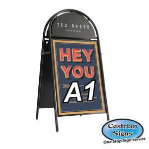 Booster A-Board Sign A1 Black