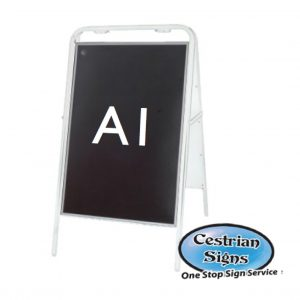 Metal-A-Board-Pavement-Sign-White-A1
