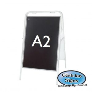Metal-A-Board-Pavement-Sign-White-A2
