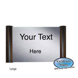 Printed Office Name Plate Door Sign Large Black