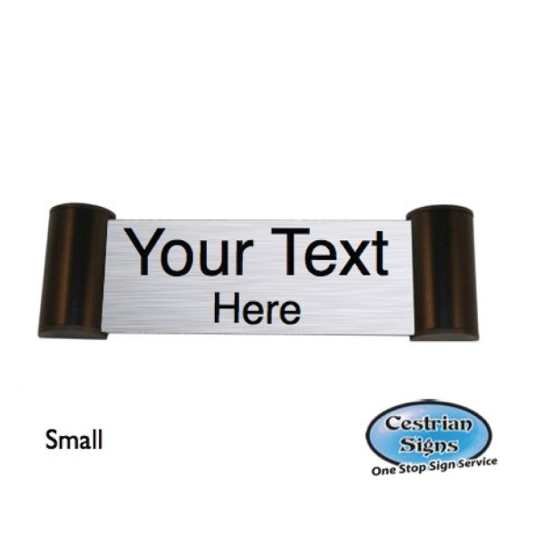 Printed Office Name Plate Door Sign Small Black