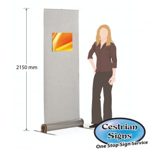 OMEGA Velcro Fabric Roller Banner Stand