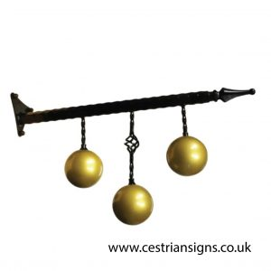 Pawnbrokers Projecting Hanging Sign Bracket