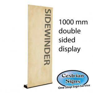 sidewinder double sided roller banner 1000 mm