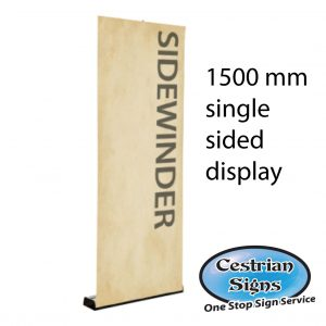 sidewinder single sided roller banner 1500 mm