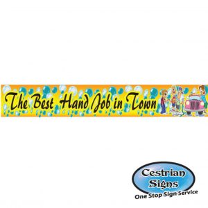 Best Hand Job In Town Banner