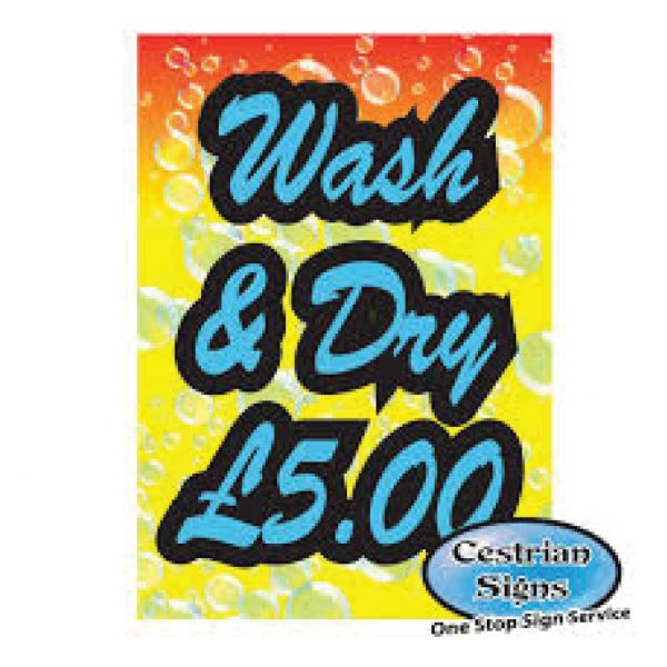 Car Wash And Dry Posters For My A-Board Or Forecourt Sign