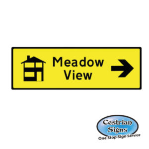 New build directional sign Right